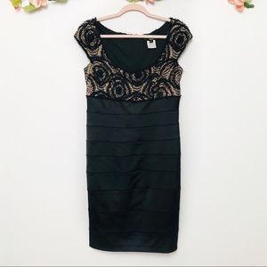 Tadashi Black Lace Detail Dress sz 12